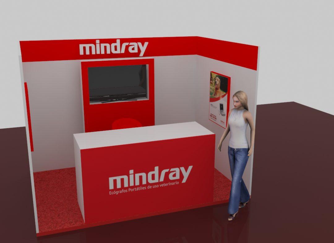 Dise o y ploteo de stand para exposiciones mindray yuupy for Disenos de stand para exposiciones